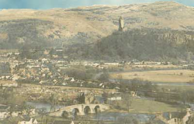 Stirling. The Wallace monument from the Castle